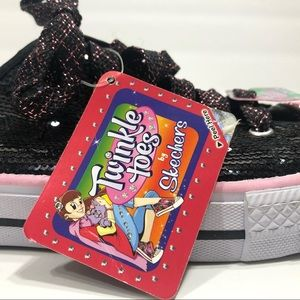 """Skechers """"Twinkle Toes"""" Lace-up Sneakers 5 NWT"""